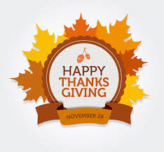happy thanksgiving day card vector free