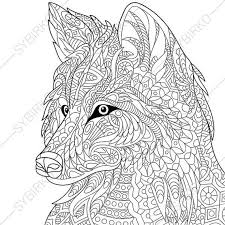 coloring page of wolf coloring page wolf zentangle doodle coloring book page