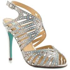 silver satin something blue by betsey johnson julia sandals