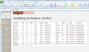 wedding invitation exle invite list template for excel 2013