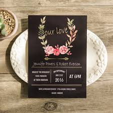 black and gold wedding invitations bohemian black floral gold foil our wedding invitations