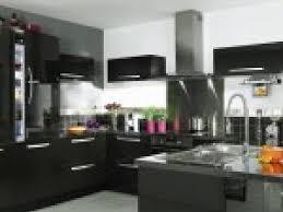 cuisine sol noir photo cuisine noir laque par deco