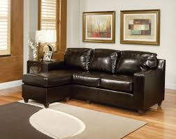 Small Couch With Chaise Lounge Small Black Leather Sectional Sofa For Small Space Design With