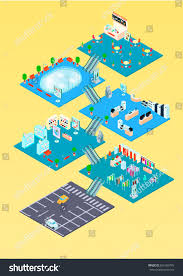 shopping mall isometric infographics template floor stock vector