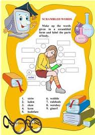 body worksheet body parts pinterest worksheets english