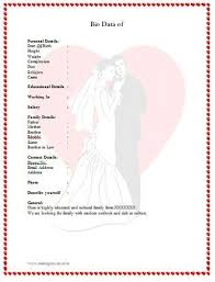 Wedding Resume Format Best 25 Marriage Biodata Format Ideas On Pinterest Biodata