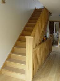 Stairs And Landing Ideas by White Oak Banister Stair Parts In Oak Loft Stairs Wall