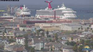 the disney arrives in galveston for the time the