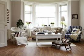 american country style lounge living room with bay window interior