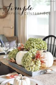 easy to make fall decorations a simple fall centerpiece fall table dining room table and