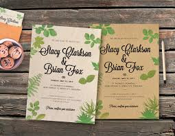 vintage invitations wedding leaves vintage invitation template graphicfy