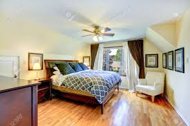 Bedroom Bed In Corner Master Bedroom Interior With Beautiful Queen Size Bed And White