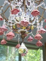 porcelain chandelier roses capodimonte sculpture the cheats artist signature bruno merli