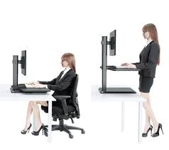 dual monitor stand up desk adjustable standing desk converter stand up desk riser for dual