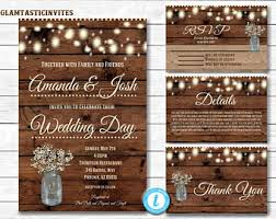 country wedding invitations rustic wedding invitation etsy
