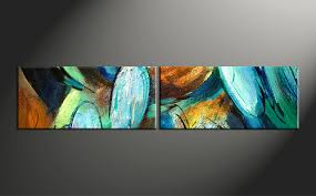 2 piece colorful abstract modern oil paintings canvas wall art home decor 2 piece artwork abstract photo canvas oil paintings huge canvas art