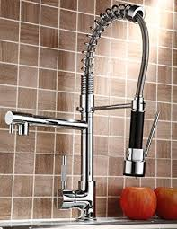 Rozin Pull Down Kitchen Sink Faucet Swivel Spout Mixer Chrome - Faucet kitchen sink