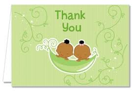 two peas in a pod baby shower baby shower thank you cards two peas in a pod