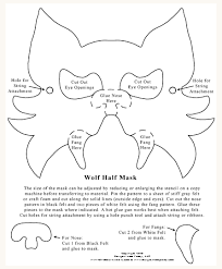 6 best images of printable halloween mask patterns printable