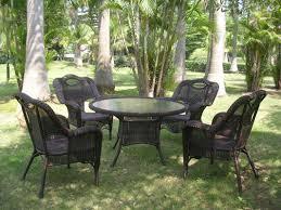 Resin Wicker Patio Dining Sets - international caravan outdoor wicker 5 piece patio dining set