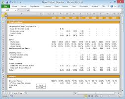 Discounted Flow Analysis Excel Template Setting Up Your Excel Flow Spreadsheet For Easy Scenario