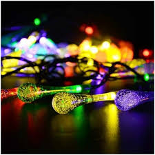 decoration lights for party colorful raindrop 20 led string fairy lights party decoration