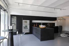 modern galley kitchen design double built in oven rectangle