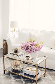 living room coffee table styling white and gold homegoods