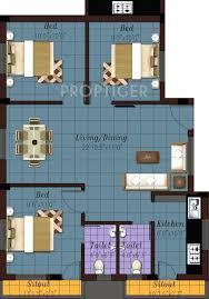 1100 sq ft 3 bhk floor plan image sri krishna builder keerthanam