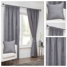 Curtain Pleating Tape Faux Suede Grey Pencil Pleat Tape Top Lined Readymade Curtains