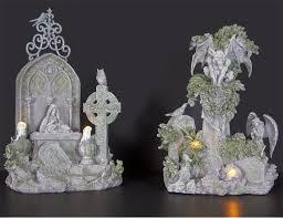 halloween figurines lori mitchell haunted cemetery with gargoyles halloween figurines u0026 props