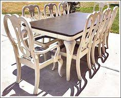 Painted Dining Table Ideas Antique Dining Table Updated With Chalk Paint Chalk Paint White