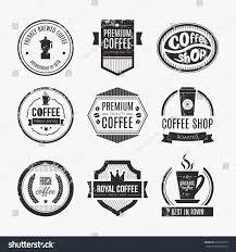 vector set coffee shop logos restaurant stock vector 233157679