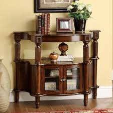 Entrance Console Table Furniture Furniture Of America Classic Antique Walnut Entryway Table