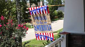 American House Flag Proud To Be American