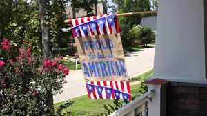 Monogram Garden Flag Proud To Be American