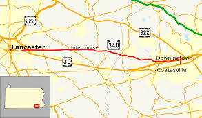 Map Of Lancaster Pa Pennsylvania Route 340 Wikipedia