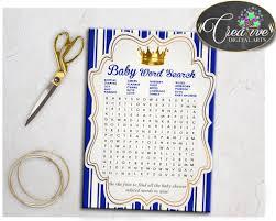 royal baby shower word search little prince game printable royal