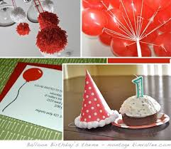 pom poms and balloons for a boy first birthday u0027s party at home