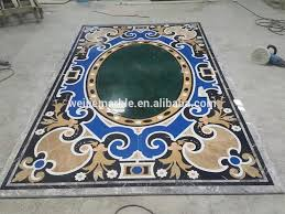 blue water jet marble floor inlay design buy