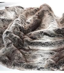 plaids fausse fourrure pour canapé plaid fausse fourrure luxe gris 130 x 180 cm 2