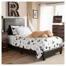 Leather Upholstered Bed Ramon Modern And Contemporary Faux Leather Upholstered Platform