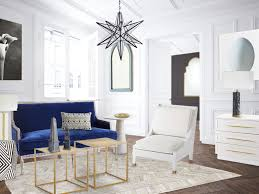 a fresh blue and white living room design thou swell fiona andersen