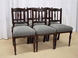 Victorian Dining Chairs Six Late Victorian Dining Chairs Antiques Atlas