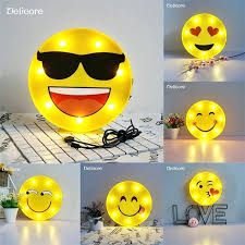 houses of light facebook emoji bedroom decor novelty cool face night light children bedroom