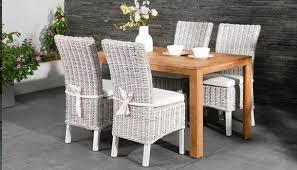 Wicker High Back Dining Chair Maya Rattan Dining Chair For The Garden