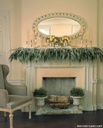 mantel greenery icicles dangle from a cedar