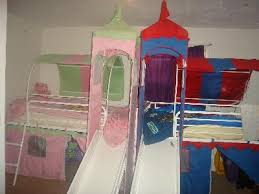 Girls White Bed by U0026apos S Castle Tent Twin Metal Loft Bed With Slide U0026amp Under