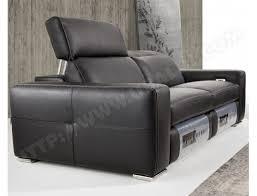 canapé electrique canapé cuir maxdivani relax électrique matador noir coutures