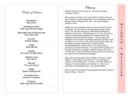 obituary template funeral program templates programs for